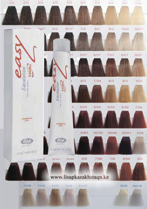 Краска для волос LISAP Escalation Easy палитра